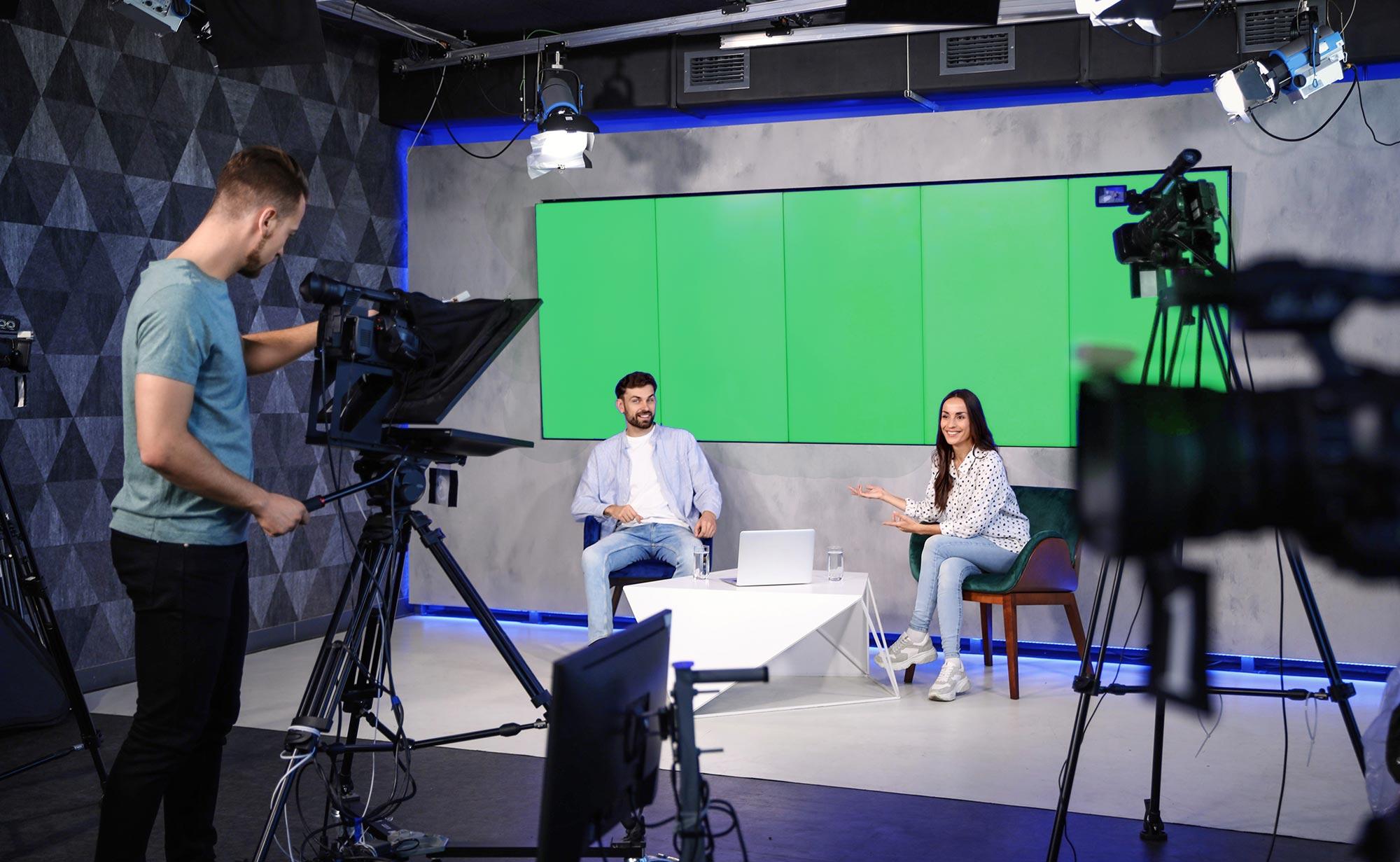 Production vidéo : tournage en studio